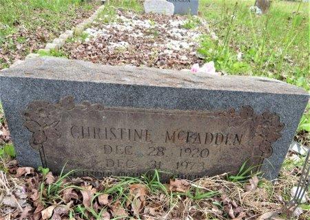MCFADDEN, CHRISTINE - Hempstead County, Arkansas   CHRISTINE MCFADDEN - Arkansas Gravestone Photos