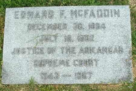 MCFADDEN, EDWARD F - Hempstead County, Arkansas   EDWARD F MCFADDEN - Arkansas Gravestone Photos