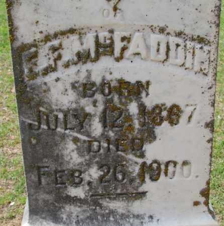 MCFADDEN, E F (CLOSEUP) - Hempstead County, Arkansas   E F (CLOSEUP) MCFADDEN - Arkansas Gravestone Photos