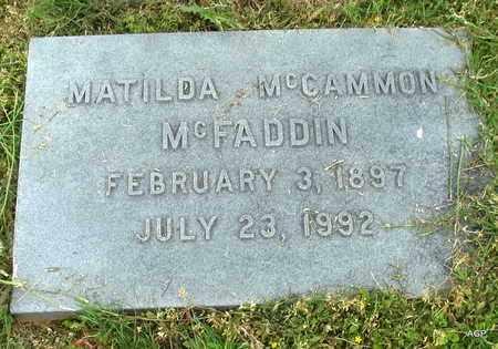 MCFADDEN, MATILDA - Hempstead County, Arkansas | MATILDA MCFADDEN - Arkansas Gravestone Photos