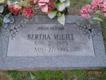 MCGILL, BERTHA - Hempstead County, Arkansas | BERTHA MCGILL - Arkansas Gravestone Photos