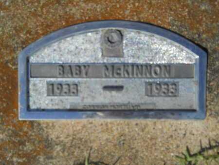 MCKINNON, BABY - Hempstead County, Arkansas | BABY MCKINNON - Arkansas Gravestone Photos