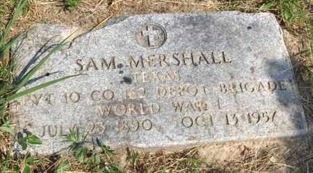 MERSHALL (VETERAN WW I), SAM - Hempstead County, Arkansas | SAM MERSHALL (VETERAN WW I) - Arkansas Gravestone Photos