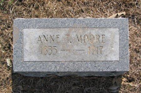MOORE, ANNIE T - Hempstead County, Arkansas | ANNIE T MOORE - Arkansas Gravestone Photos