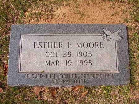 MOORE, ESTHER F - Hempstead County, Arkansas   ESTHER F MOORE - Arkansas Gravestone Photos