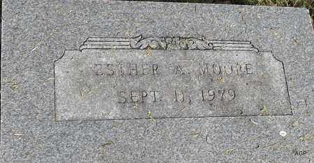 MOORE, ESTHER A - Hempstead County, Arkansas | ESTHER A MOORE - Arkansas Gravestone Photos