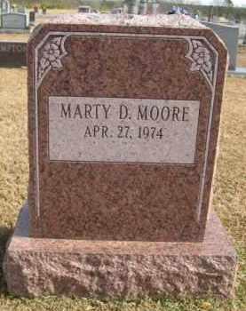MOORE, MARTY D - Hempstead County, Arkansas   MARTY D MOORE - Arkansas Gravestone Photos