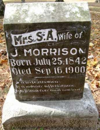 MORRISON, S A, MRS - Hempstead County, Arkansas | S A, MRS MORRISON - Arkansas Gravestone Photos