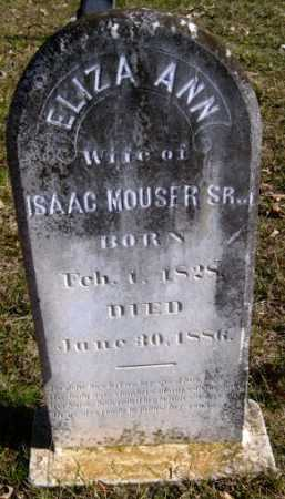 MOUSER, ELIZA ANN - Hempstead County, Arkansas   ELIZA ANN MOUSER - Arkansas Gravestone Photos