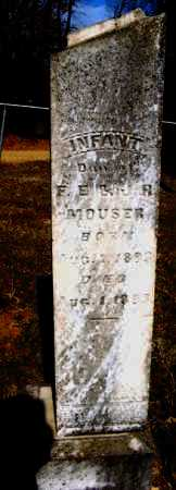 MOUSER, INFANT DAUGHTER - Hempstead County, Arkansas   INFANT DAUGHTER MOUSER - Arkansas Gravestone Photos