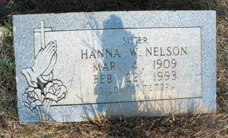 NELSON, HANNA W - Hempstead County, Arkansas | HANNA W NELSON - Arkansas Gravestone Photos
