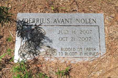 NOLEN, DERRIUS AVANT - Hempstead County, Arkansas   DERRIUS AVANT NOLEN - Arkansas Gravestone Photos
