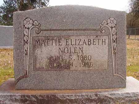 NOLEN, MATTIE ELIZABETH - Hempstead County, Arkansas | MATTIE ELIZABETH NOLEN - Arkansas Gravestone Photos