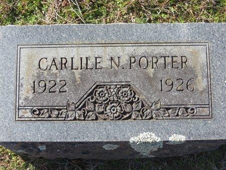 PORTER, CARLILE N. - Hempstead County, Arkansas | CARLILE N. PORTER - Arkansas Gravestone Photos