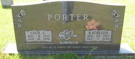 PORTER, CECIL C - Hempstead County, Arkansas   CECIL C PORTER - Arkansas Gravestone Photos