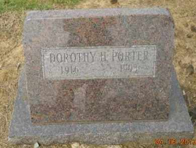 PORTER, DOROTHY H - Hempstead County, Arkansas | DOROTHY H PORTER - Arkansas Gravestone Photos