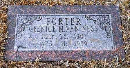 PORTER, GLENICE M - Hempstead County, Arkansas   GLENICE M PORTER - Arkansas Gravestone Photos