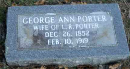PORTER, GEORGE ANN - Hempstead County, Arkansas | GEORGE ANN PORTER - Arkansas Gravestone Photos
