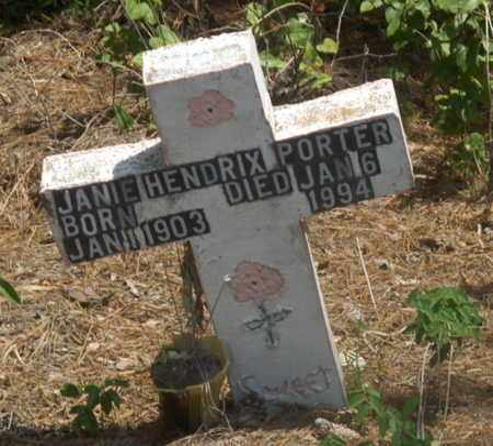 HENDRIX PORTER, JANIE - Hempstead County, Arkansas | JANIE HENDRIX PORTER - Arkansas Gravestone Photos