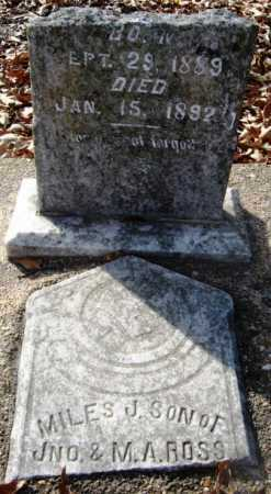 ROSS, MILES J - Hempstead County, Arkansas | MILES J ROSS - Arkansas Gravestone Photos