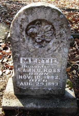 ROSS, MERTIE - Hempstead County, Arkansas | MERTIE ROSS - Arkansas Gravestone Photos