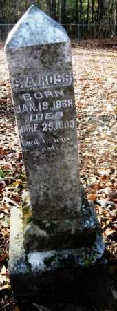 ROSS, S A - Hempstead County, Arkansas | S A ROSS - Arkansas Gravestone Photos