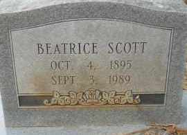 SCOTT, BEATRICE - Hempstead County, Arkansas | BEATRICE SCOTT - Arkansas Gravestone Photos
