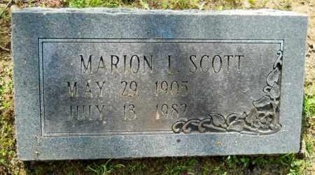 SCOTT, MARION L - Hempstead County, Arkansas   MARION L SCOTT - Arkansas Gravestone Photos