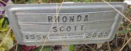 SCOTT, RHONDA - Hempstead County, Arkansas   RHONDA SCOTT - Arkansas Gravestone Photos