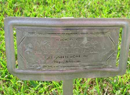 SCOTT, UNKNOWN - Hempstead County, Arkansas | UNKNOWN SCOTT - Arkansas Gravestone Photos