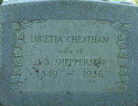 SHEPPERSON, LUCETTA - Hempstead County, Arkansas | LUCETTA SHEPPERSON - Arkansas Gravestone Photos