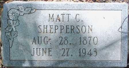 SHEPPERSON, MATT C - Hempstead County, Arkansas | MATT C SHEPPERSON - Arkansas Gravestone Photos