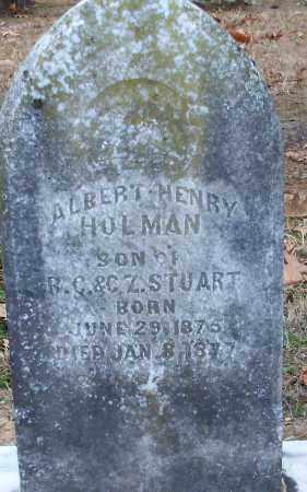 STUART, ALBERT HENRY HOLMAN - Hempstead County, Arkansas | ALBERT HENRY HOLMAN STUART - Arkansas Gravestone Photos
