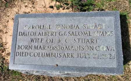 STUART, CAROLINE ZENOBIA - Hempstead County, Arkansas   CAROLINE ZENOBIA STUART - Arkansas Gravestone Photos