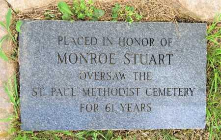 STUART, E. MONROE (MEMORIAL) - Hempstead County, Arkansas   E. MONROE (MEMORIAL) STUART - Arkansas Gravestone Photos