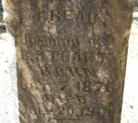 STUART, FREAD (CLOSEUP) - Hempstead County, Arkansas | FREAD (CLOSEUP) STUART - Arkansas Gravestone Photos