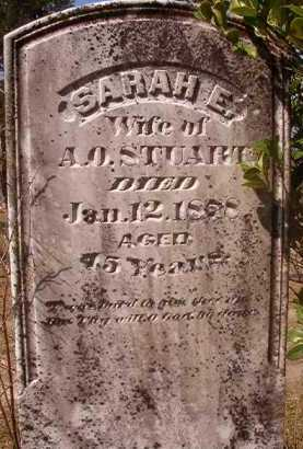 STUART, SARAH E - Hempstead County, Arkansas   SARAH E STUART - Arkansas Gravestone Photos