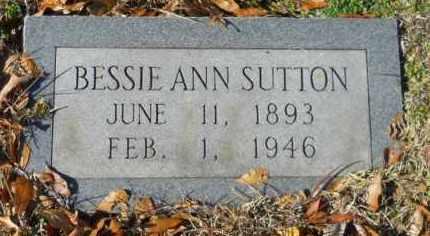 SUTTON, BESSIE ANN - Hempstead County, Arkansas | BESSIE ANN SUTTON - Arkansas Gravestone Photos
