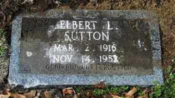 SUTTON, ELBERT L - Hempstead County, Arkansas   ELBERT L SUTTON - Arkansas Gravestone Photos