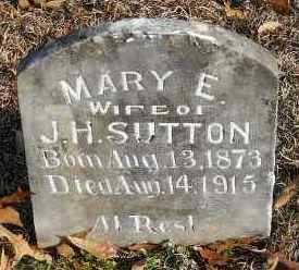 SUTTON, MARY E - Hempstead County, Arkansas | MARY E SUTTON - Arkansas Gravestone Photos