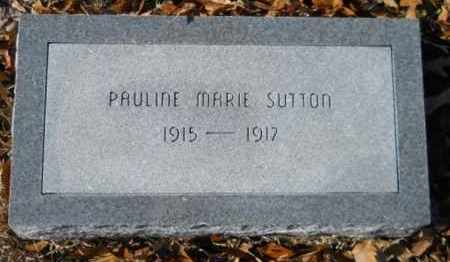 SUTTON, PAULINE MARIE - Hempstead County, Arkansas   PAULINE MARIE SUTTON - Arkansas Gravestone Photos
