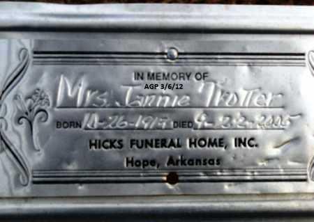 TROTTER, JANNIE - Hempstead County, Arkansas | JANNIE TROTTER - Arkansas Gravestone Photos
