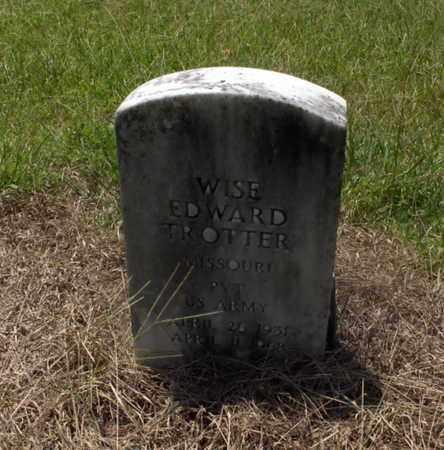 TROTTER (VETERAN), WISE EDWARD - Hempstead County, Arkansas | WISE EDWARD TROTTER (VETERAN) - Arkansas Gravestone Photos