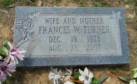 TURNER, FRANCES W - Hempstead County, Arkansas | FRANCES W TURNER - Arkansas Gravestone Photos