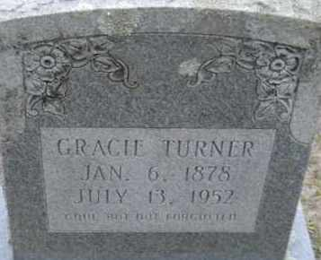 TURNER, GRACIE - Hempstead County, Arkansas | GRACIE TURNER - Arkansas Gravestone Photos