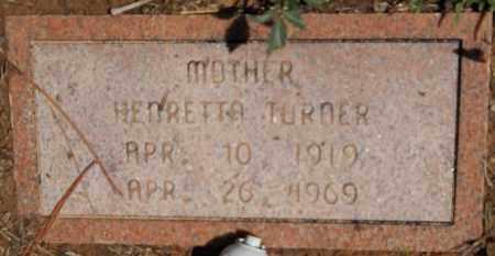 TURNER, HENRETTA - Hempstead County, Arkansas | HENRETTA TURNER - Arkansas Gravestone Photos