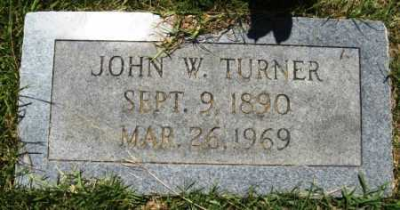 TURNER, JOHN W - Hempstead County, Arkansas | JOHN W TURNER - Arkansas Gravestone Photos