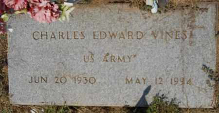 VINES (VETERAN), CHARLES EDWARD - Hempstead County, Arkansas | CHARLES EDWARD VINES (VETERAN) - Arkansas Gravestone Photos