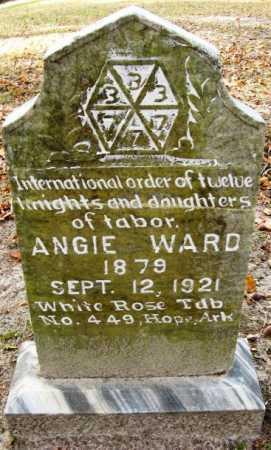 WARD, ANGIE - Hempstead County, Arkansas   ANGIE WARD - Arkansas Gravestone Photos