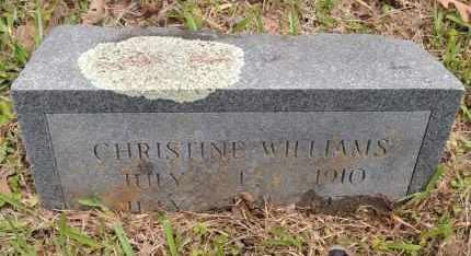WILLIAMS, CHRISTINE - Hempstead County, Arkansas | CHRISTINE WILLIAMS - Arkansas Gravestone Photos